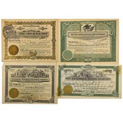 NV - Tonopah,Nye County - 1904-1926 - Tonopah Stock Certificate Group- Rare - Clint Maish Collection