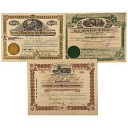 NV - Tonopah,Nye County - 1903 - Tonopah Stock Certificates - Clint Maish Collection