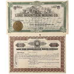 NV - Tonopah, Goldfield,Nye County, Esmeralda County - 1904, 1922 - Lone Mountain and Lone Star Mini