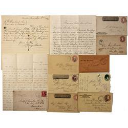 NV - Treasure Hill,1860's - Treasure Hill Postal History & Correspondence