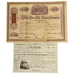 NV - Treasure Hill,White Pine County - 1868-1880 - Treasure Hill Stock Certificates - Clint Maish Co