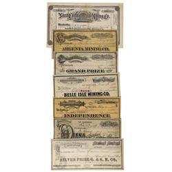 NV - Tuscarora,Elko County - 1870s-1890 - Tuscarora Stock Certificates - Gil Schmidtmann Collection