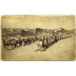 NV - Tuscarora,Elko County - c1890 - Wagons Hauling Ore Photograph