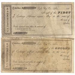 NV - Tybo,Nye County - 1880 - Tybo Exchange Checks - Clint Maish Collection
