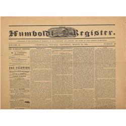 NV - Unionville,Pershing County - 1865 - Humboldt Register