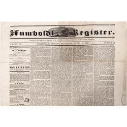 NV - Unionville,Humboldt county - April 14, 1866 - Humboldt Register Newspaper - Gil Schmidtmann Col