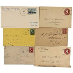 NV - Unionville,Pershing County - 1884-1950s - Unionville Postal Covers Group - Gil Schmidtmann Coll
