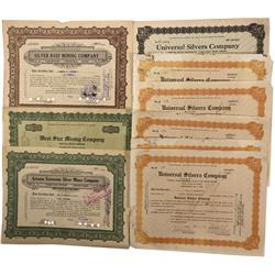 NV - Unionvillke,Pershing County - 1920s - Unionville Stock Certificate Group
