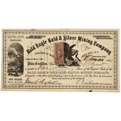 NV - Virginia City,Storey County - Dec. 2, 1863 - Bald Eagle Gold & Silver Mining Company Stock Cert