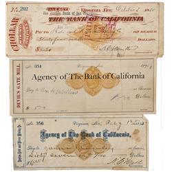 NV - Virginia City,Storey County - 1875-1885 - Bank of California Checks