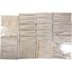 NV - Virginia City,Storey County - 1866-1868 - Bonner, Charles, Correspondence
