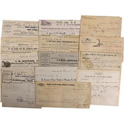 NV - Virginia City,Storey County - 1874-1886 - Chollar Mine Documents