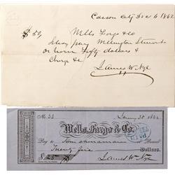 NV - Virginia City,1862 - Comstock Checks