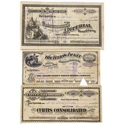 NV - Virginia City,Storey County - 1880-1910 - Comstock Lode Stocks - Gil Schmidtmann Collection
