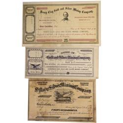 NV - Virginia City,Storey County - 1863-1864 - Comstock Stock Certificates, Unissued - Clint Maish C