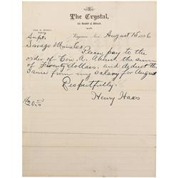 NV - Virginia City,Storey County - Aug 15, 1896 - Crystal, The Saloon Letter