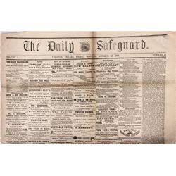 NV - Virginia City,Storey County - October 23, 1868 - Daily Safeguard Newspaper - Gil Schmidtmann Co