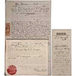 NV - Virginia City,Storey County - 1863 - Early Territorial Indenture *Territorial* - Clint Maish Co