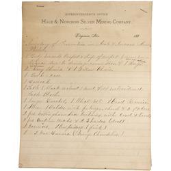 NV - Virginia City,Storey  County - 188x - Hale & Norcross Silver Mining Co Documents