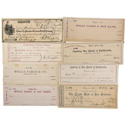 nv - Virginia City,Storey County - c1870s - Nevada Territory Checks