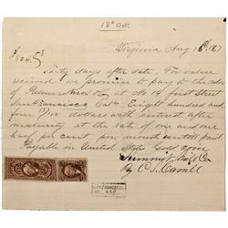 NV - Virginia City,Storey County - 1867 - Promissory Note - Clint Maish Collection