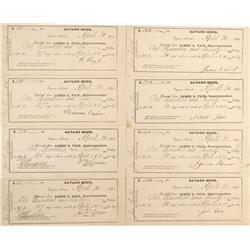 NV - Virginia City,Storey County - Savage Mine Payroll Receipts - Gil Schmidtmann Collection