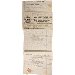 NV - Virginia City,1867-1871 - Savage Mining Company Assay Documents