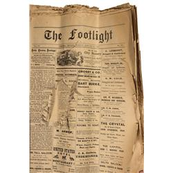NV - Virginia City,Storey County - 1887 - The Footlight Daily Newspaper
