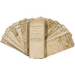 NV - Virginia City,Storey County - 1870s-1880s - Virginia City Mill Vouchers - Gil Schmidtmann Colle