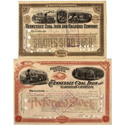 TN - Tracy City,Davidson County - 1893-94 - Tennessee Coal, Iron, and Railroad Company Stock Certifi