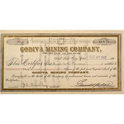 UT - 1902 - Godiva Mining Company Stocks Certificate - Fenske Collection