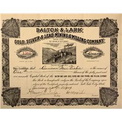 UT - Bingham County,1909 - Dalton & Lark Gold Silver Lead Mining & Milling Company Stock Certificate