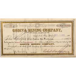 UT - Eureka,Juab County - 1900 - Godiva Mining Company Stock Certificate - Mueller Collection