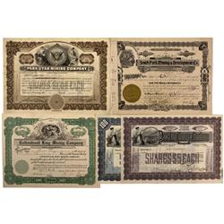 UT - Park City,Summit, Wasatch counties - 1917, 1922 - Park City Area Mining Company Stock Certifica