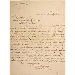 UT - Salt Lake City,July 23, 1891 - California & Nevada Stage Company Letter - Mueller Collection