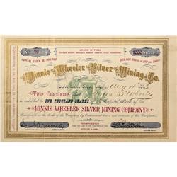 UT - Summit County,1883 - Minnie Wheeler Silver Mining Co. Stock Certificate  *Territorial* - Fenske