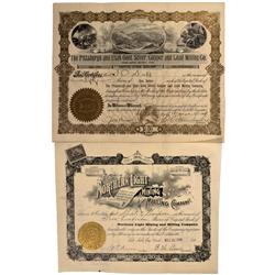 UT - Tooele County,1898, 1904 - Tooele Cpunty Area Mining  Stock Certificates - Fenske Collection