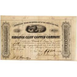 VA - Page County,February 18, 1854 - Virginia Cliff Copper Company, Stock