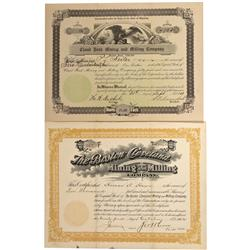 WY - 1902, 1911 - Wyoming Mining Stock Certificate - Fenske Collection