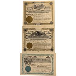 WY - Cheyenne,Laramie County - 1904-1907 - Wyoming Gold Mining Stock Certificate - Fenske Collection