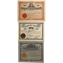 WY - Hanna,Carbon County - 1894-1909 - Coal Mining Stock Certificate - Fenske Collection
