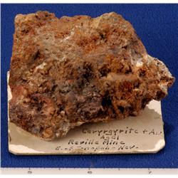 NV - Tonopah,Nye County - Gold & Ceryrgyrite Speciman-Tonopah, Nevada