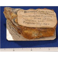 NV - Virgnina City,Storey County - Gold & Silver Ore Specimen - Virginia City, Nevada