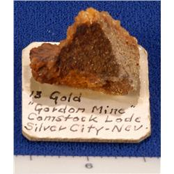 NV - Silver City,Lyon County - Gold Specimen -  Silver City, Nevada