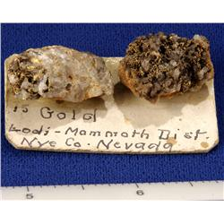 NV - Nye County - Gold Specimen - Nevada
