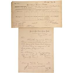 NV - Storey County,1888, 1892 - Carson City Mint Documents