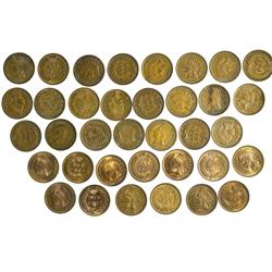 NY - Buffalo,Erie County - 1880s-1900s - Indian Head Pennies - Fell Collection