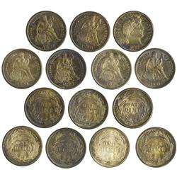 NY - Buffalo,Erie County - 1880s-1890s - Assorted Mint State Dimes - Fell Collection