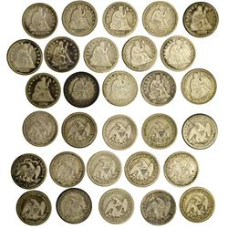 NY - Buffalo,Erie County - 1853-1877 - Seated Liberty Quarters - Fell Collection