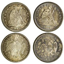 NY - Buffalo,Erie County - 1878 - Carson City Quarter Dollars - Fell Collection